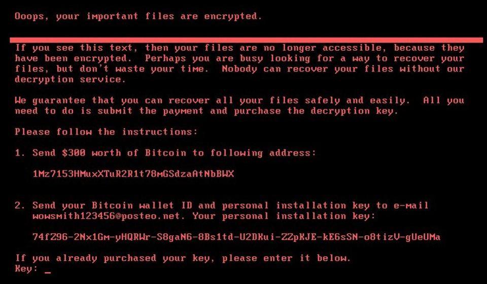 Alerte Ransomware