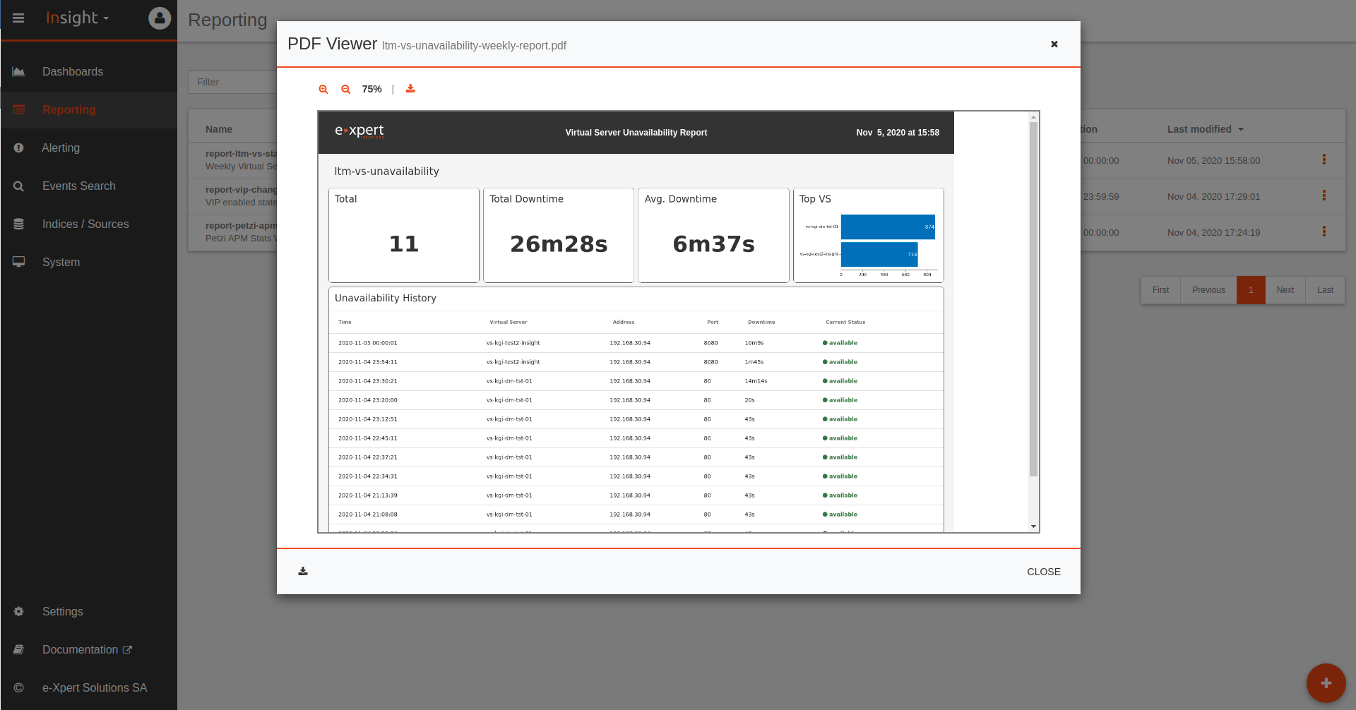 Use-Case e-Xpert Solutions F5 Analytics Tool